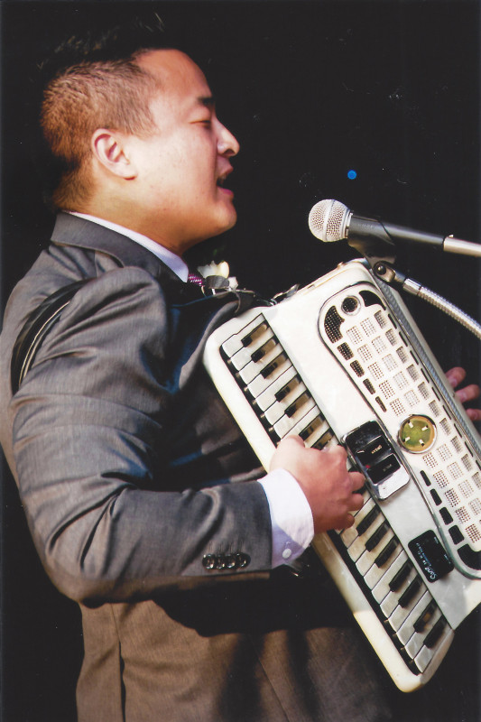 Playing Accordion at Woo-Fukuda Wedding